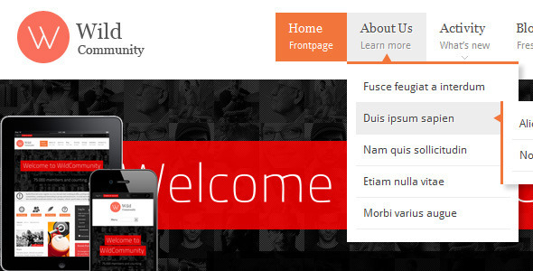 ThemeForest WildCommunity BuddyPress Theme 3146452