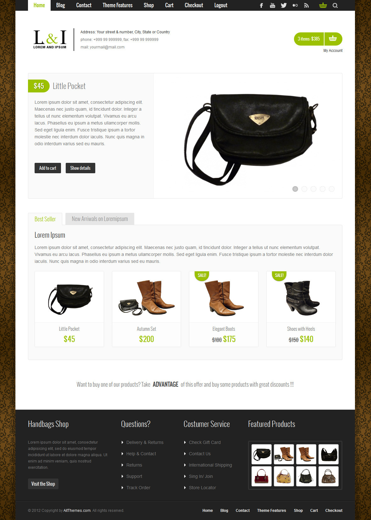 Lorem &amp; Ipsum: Universal e-Commerce Theme