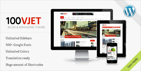 ThemeForest 100 Vjet Responsive WP Magazine 3289149