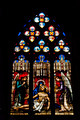The mosaic window in cathedral of Saint-Jean, Lyon, France. - PhotoDune Item for Sale