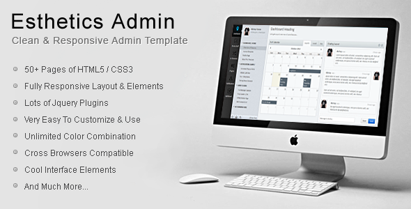 ThemeForest Esthetics Admin-Clean & Responsive Admin Template 3647979