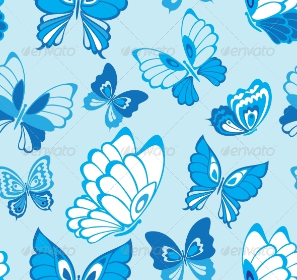 GraphicRiver Seamless Pattern with Butterfly 3674975