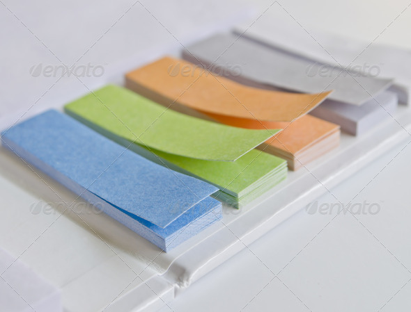 PhotoDune Colorful note pad book set on white background 3675781