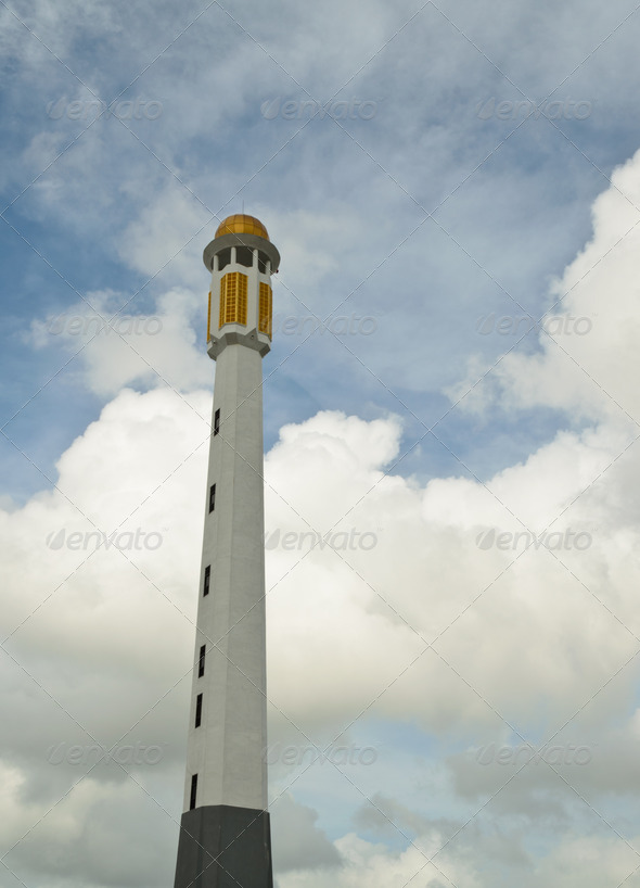PhotoDune Minaret of central mosque 3675792
