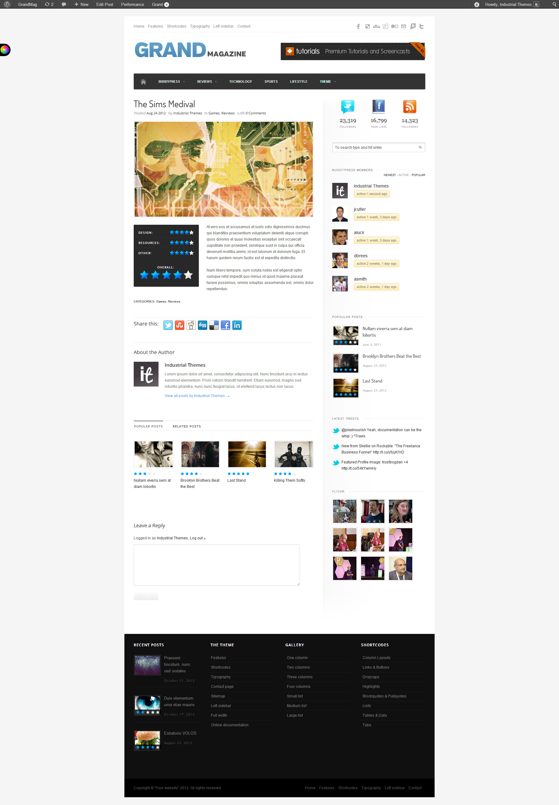 GrandMag - BuddyPress Magazine/Review Theme