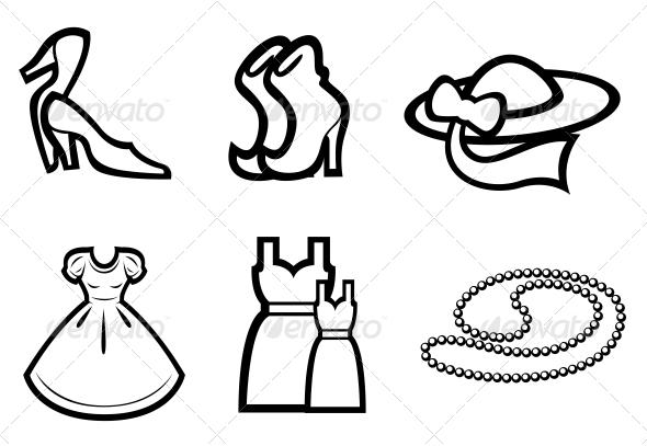 GraphicRiver Woman Fashion Elements 3676016