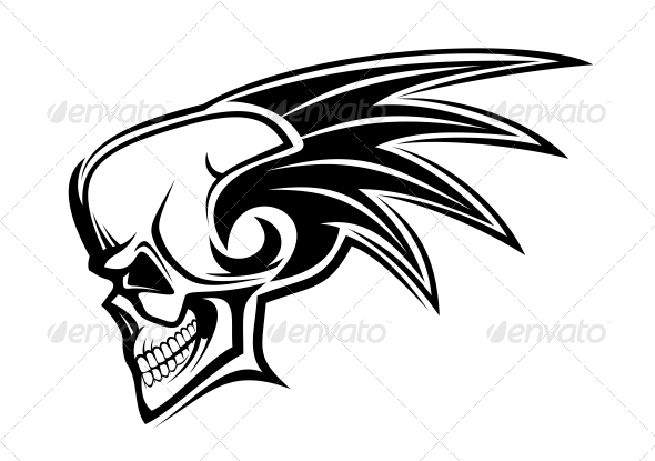 Danger Skull - Tattoos Vectors