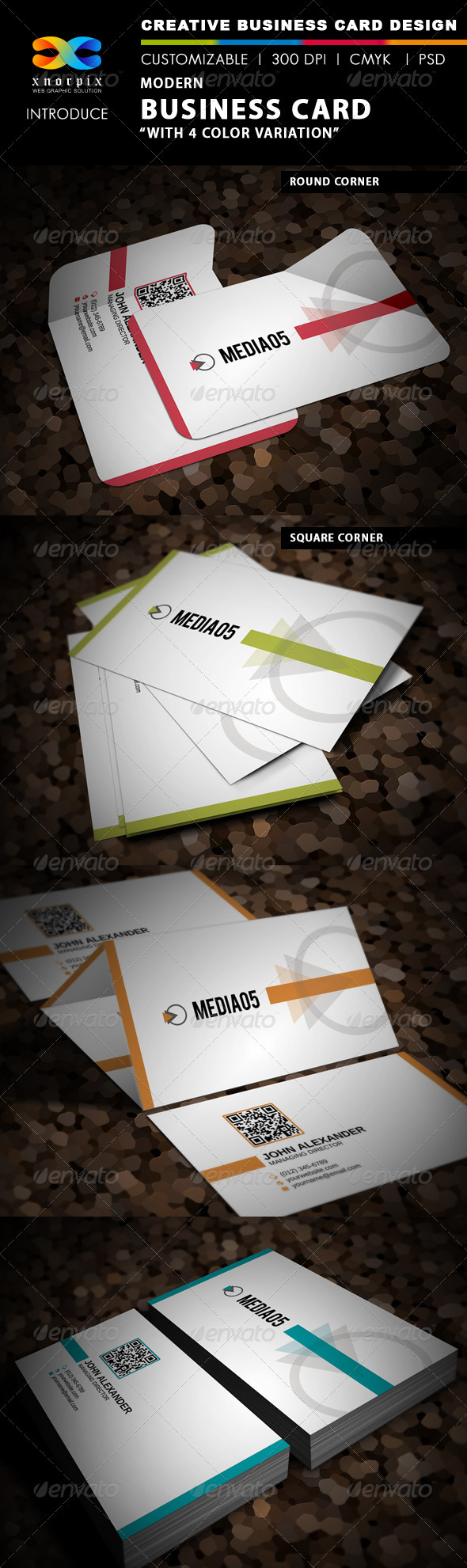 GraphicRiver Modern Business Card 3676519