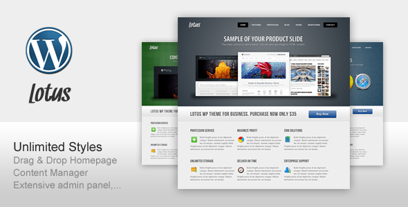 ThemeForest Lotus For Business Software Corporate Portfolio 164748