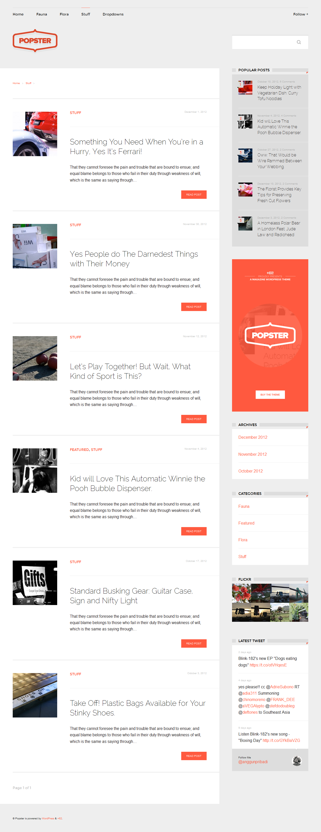 Popster - Magazine WordPress Theme