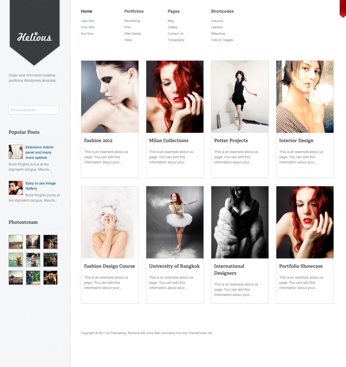Helious Grid Style Portfolio Creative Template