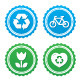 Eco Green Labels Set - GraphicRiver Item for Sale