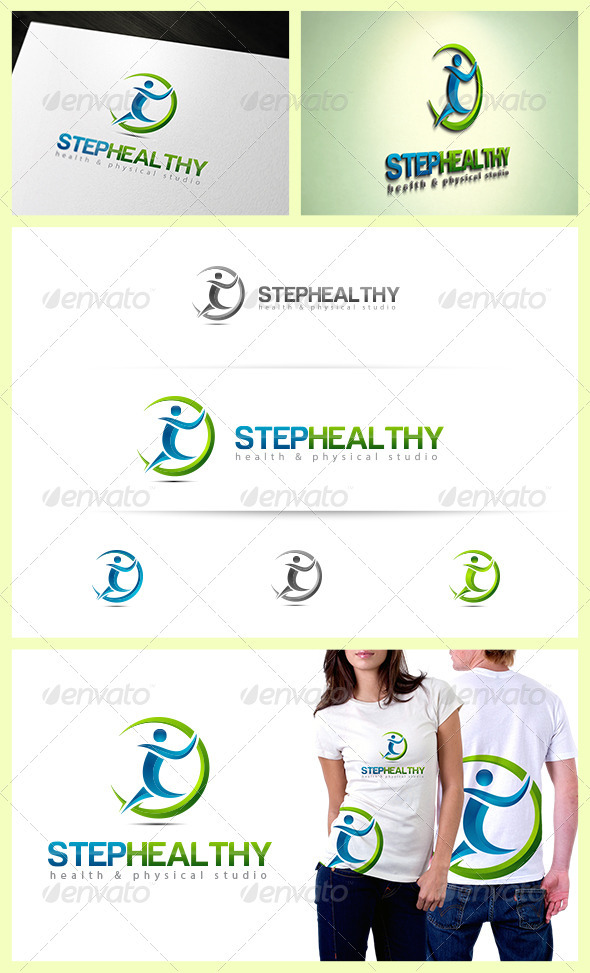 Step Healthy Logo - Humans Logo Templates