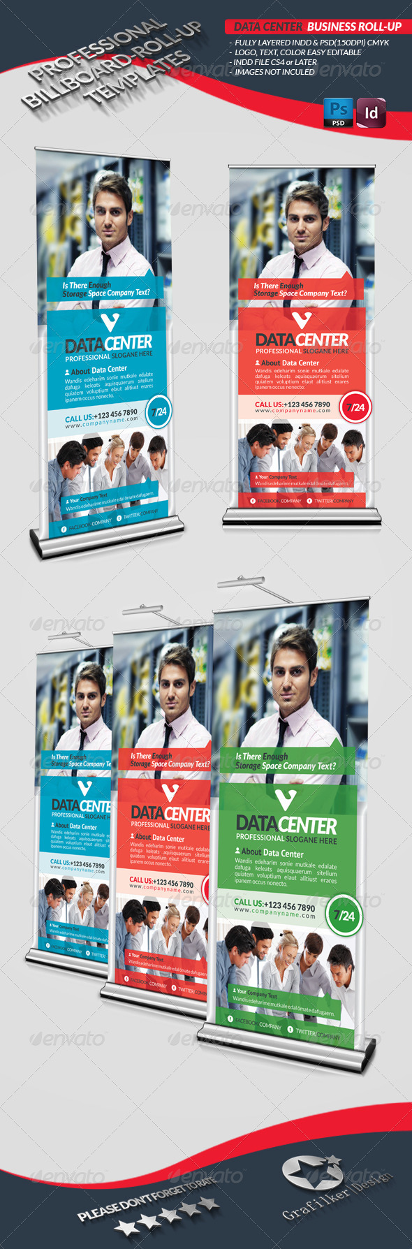 Data Center Business Roll-Up - Signage Print Templates