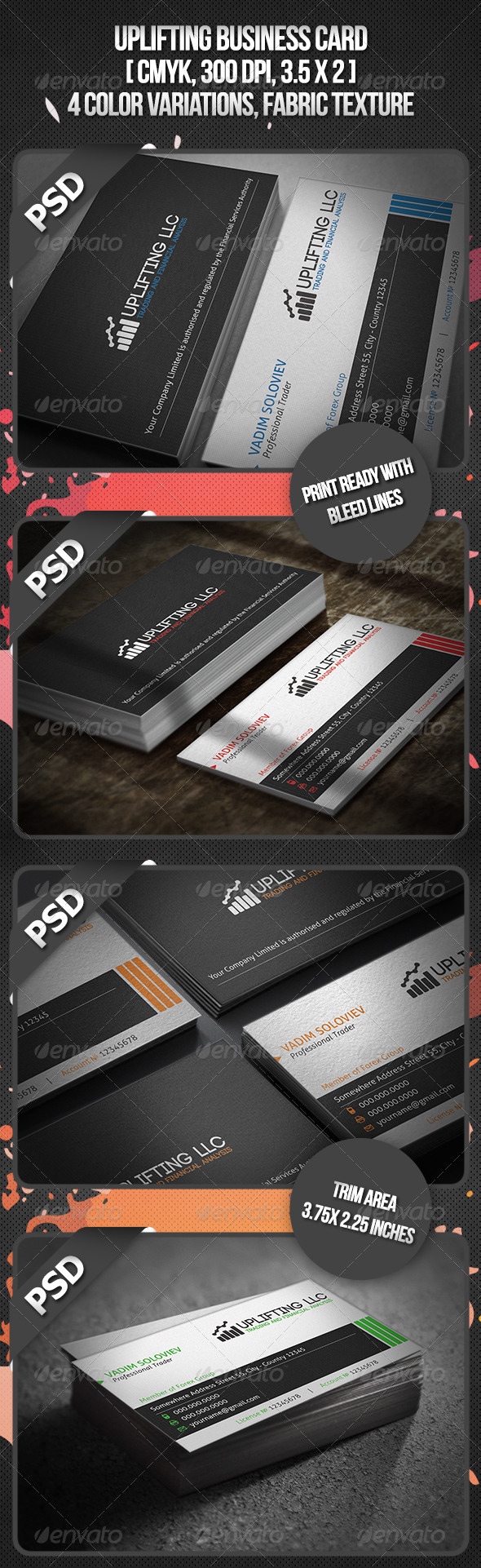 Uplifting Business Card - Business Cards Print Templates