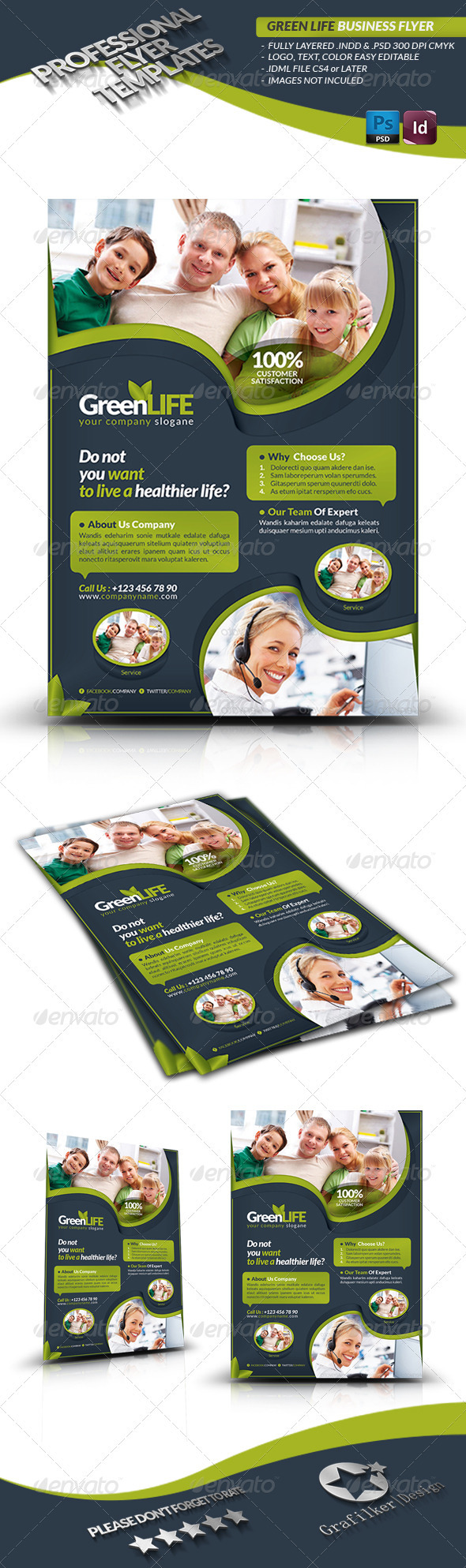 GraphicRiver Green Life Business Flyer 3628871