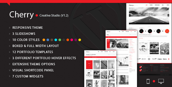 ThemeForest Cherry Portfolio WordPress Theme 3583604