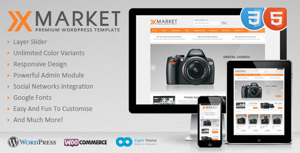 ThemeForest XMarket Responsive WordPress E-Commerce Theme 3558432
