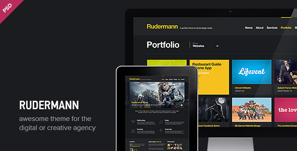 ThemeForest Rudermann Agency Business PSD Template 3370418
