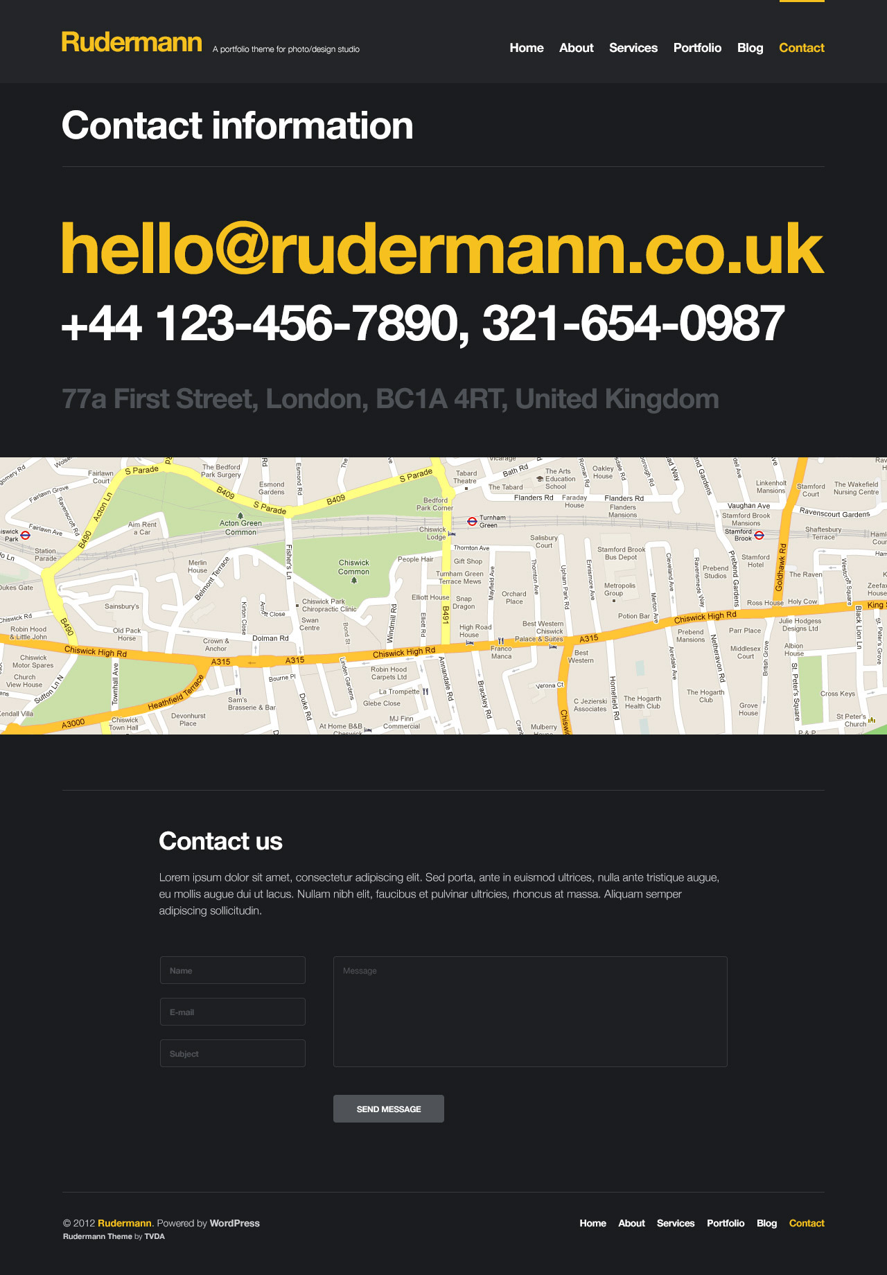 Rudermann - Agency / Business PSD Template