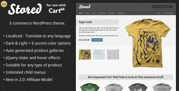 ThemeForest Stored Ecommerce WordPress Theme for Cart66 1196832