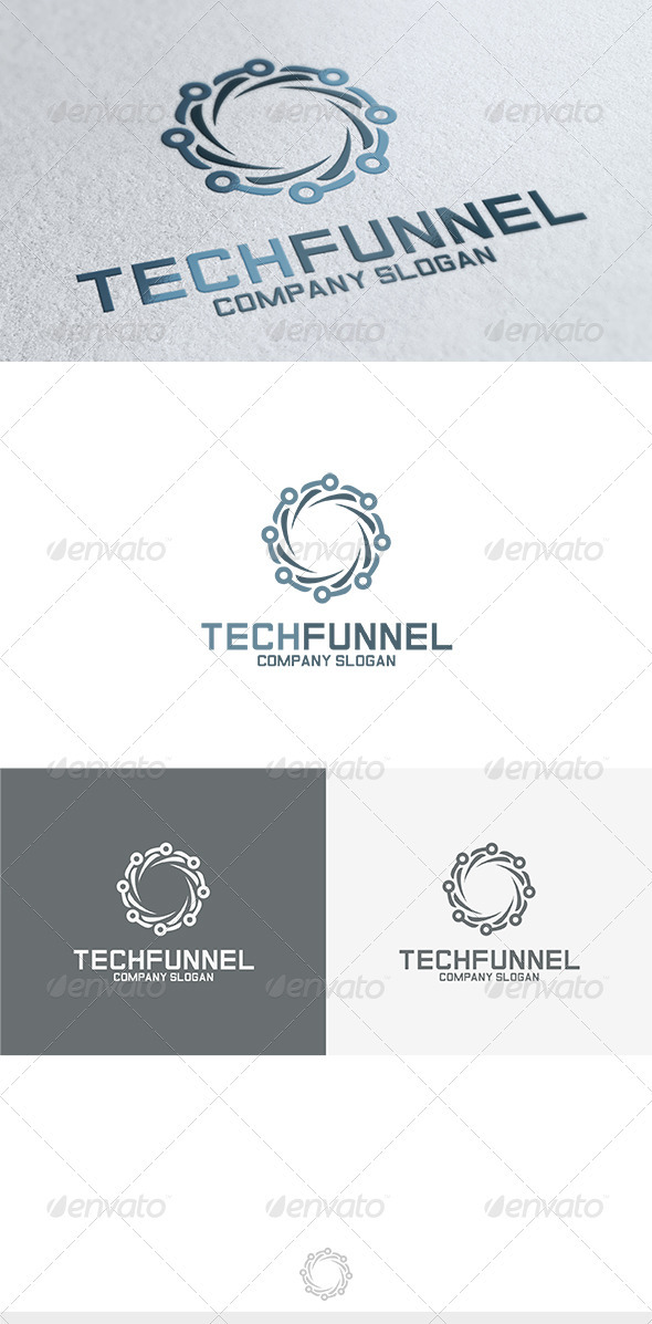 GraphicRiver Tech Funnel Logo 3680821