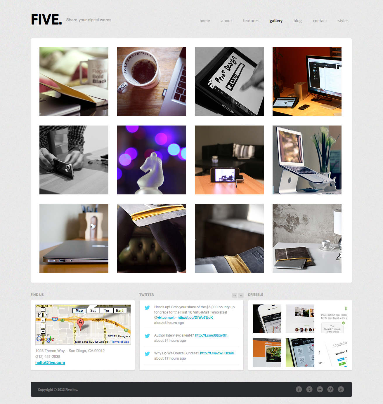 Five - Responsive HTML Template - Gallery