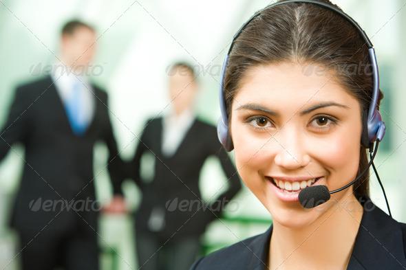 PhotoDune Consultant with headset 395914
