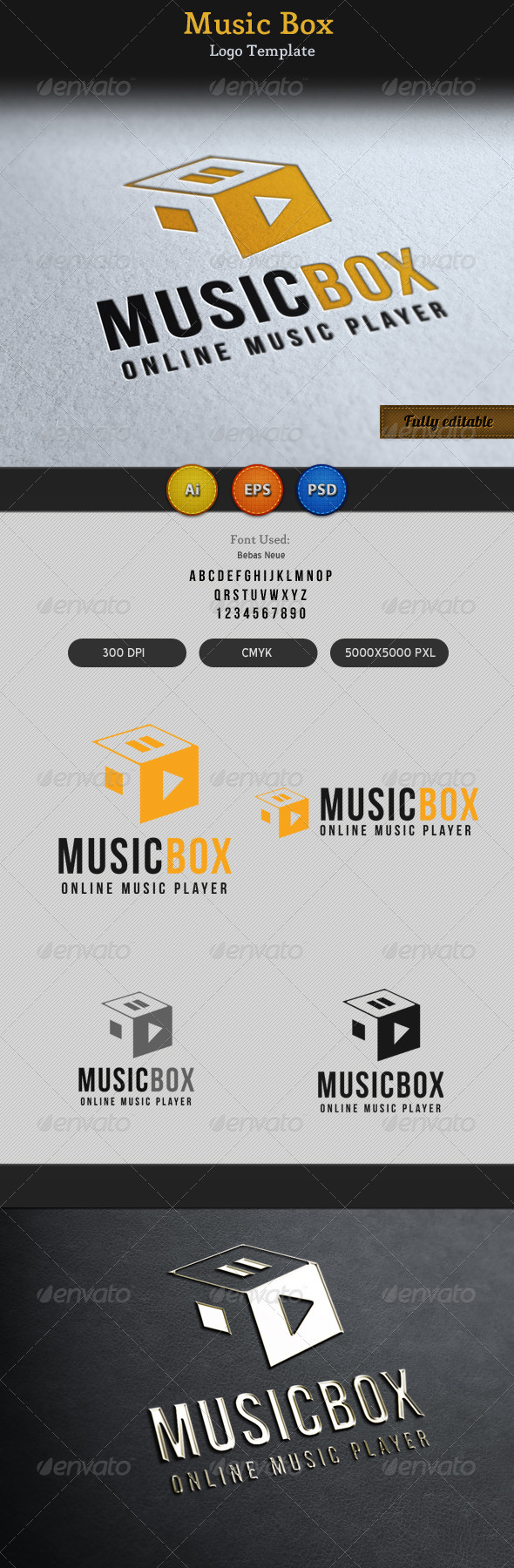 GraphicRiver Music Song Play Box Logo 3683672