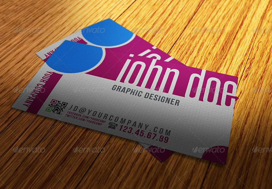 Any Shape Business Card Mockups