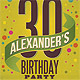 Retro Birthday Party Flyer - GraphicRiver Item for Sale