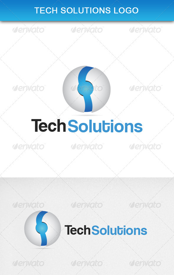GraphicRiver Tech Solutions Logo 3651338