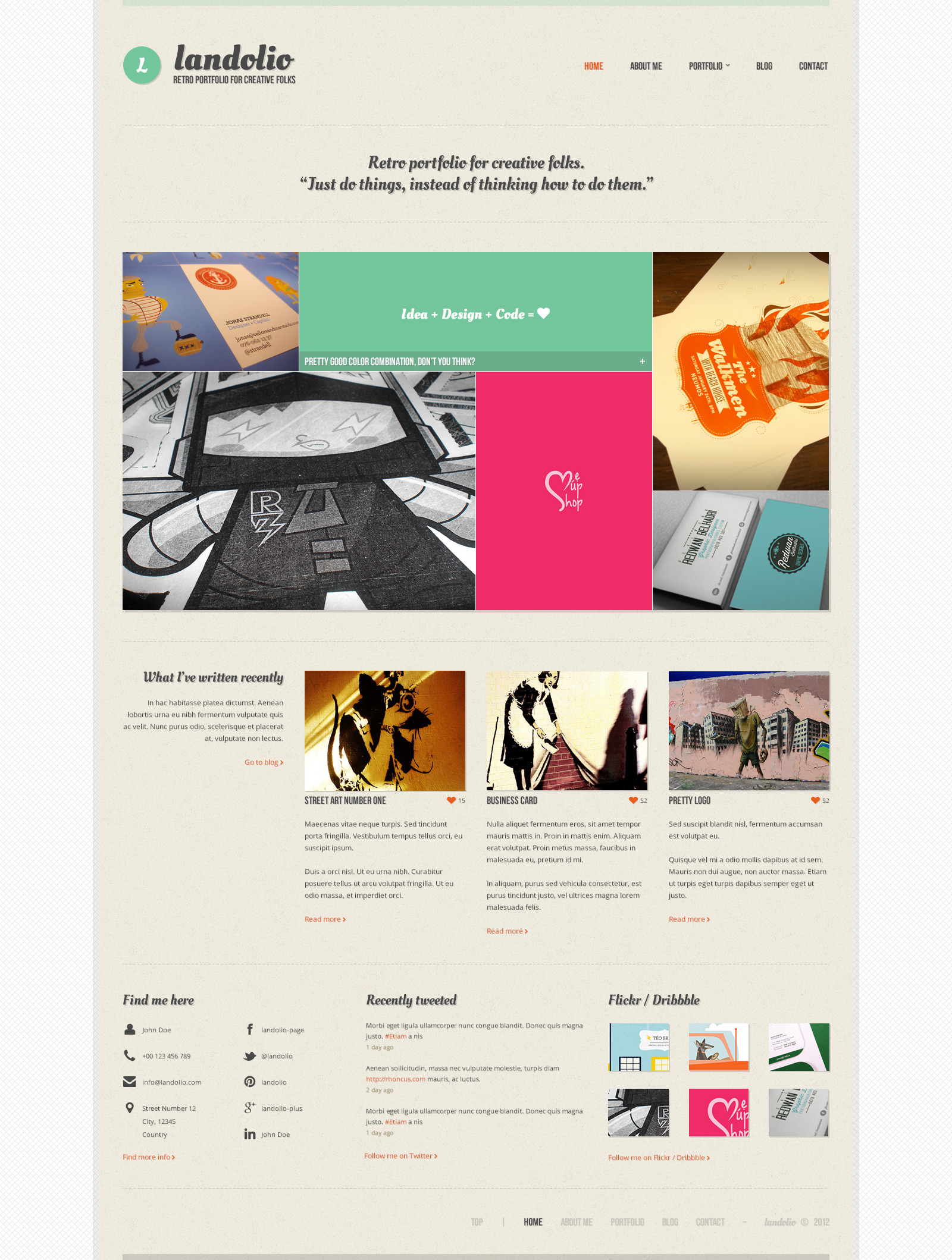 Landolio - Retro portfolio for creative folks