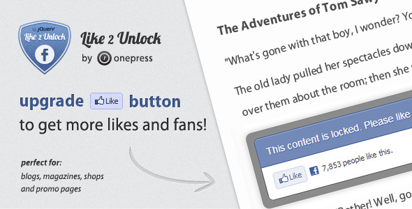 CodeCanyon Like 2 Unlock for jQuery 2822035