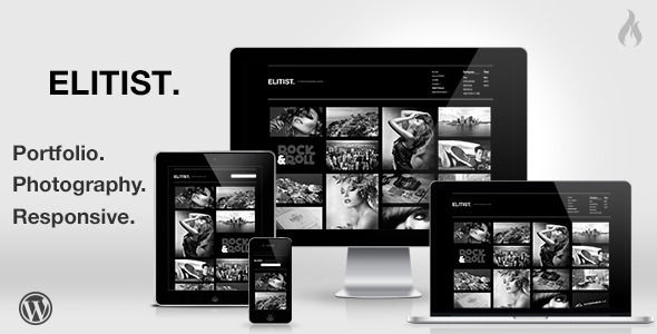 ThemeForest Elitist Responsive Portfolio WP Theme 3434255