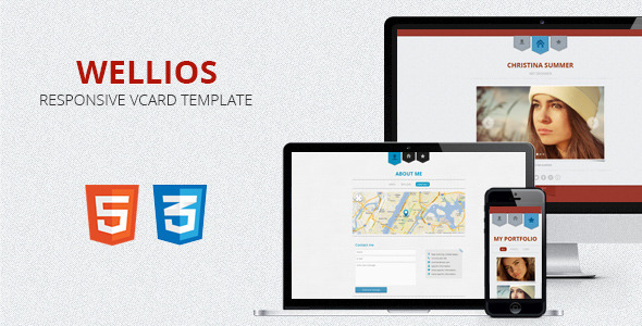ThemeForest Wellios Responsive vCard Template 3637697