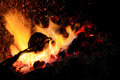 forge fire in blacksmith's where iron tools are crafted - PhotoDune Item for Sale