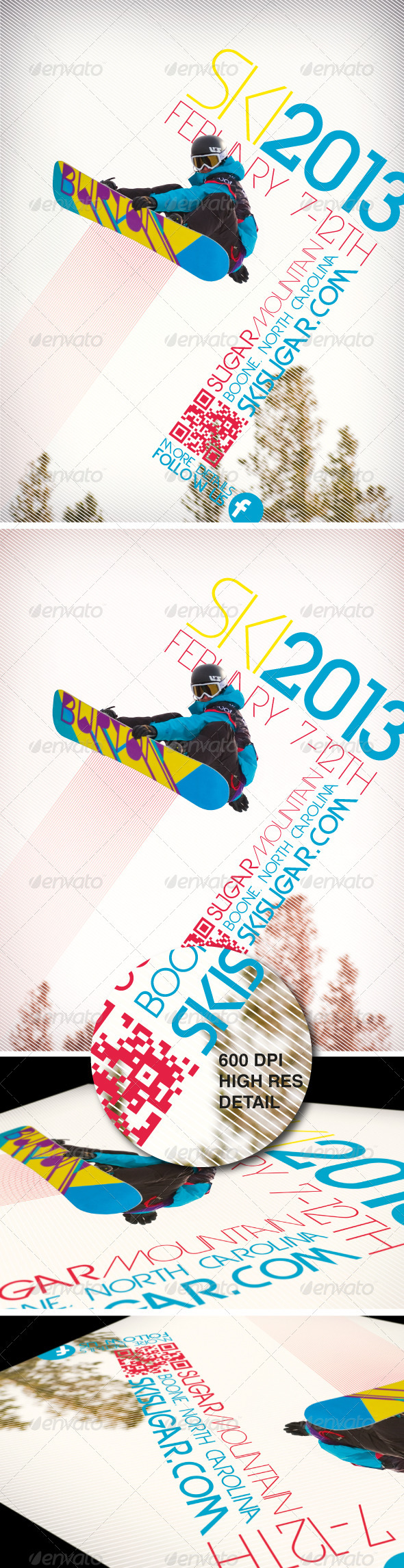 GraphicRiver A4 Ski & Snowboard Winter Event Party Flyer 3687844