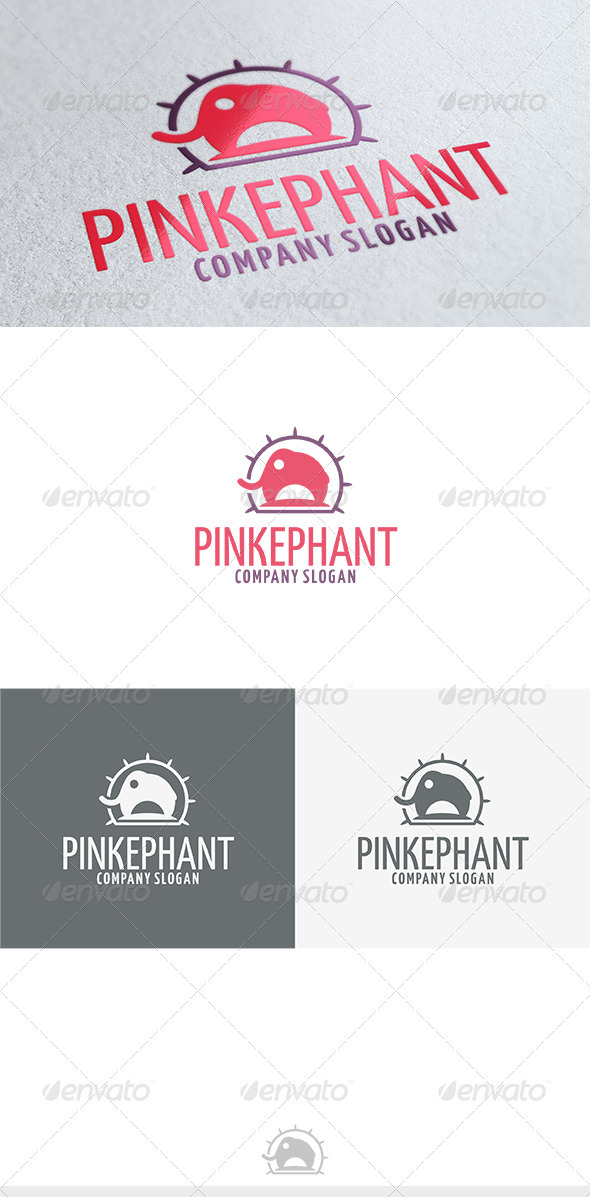 GraphicRiver Pinkephant Logo 3688369