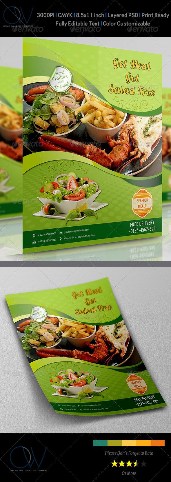 GraphicRiver Sea Food Flyer 3639229