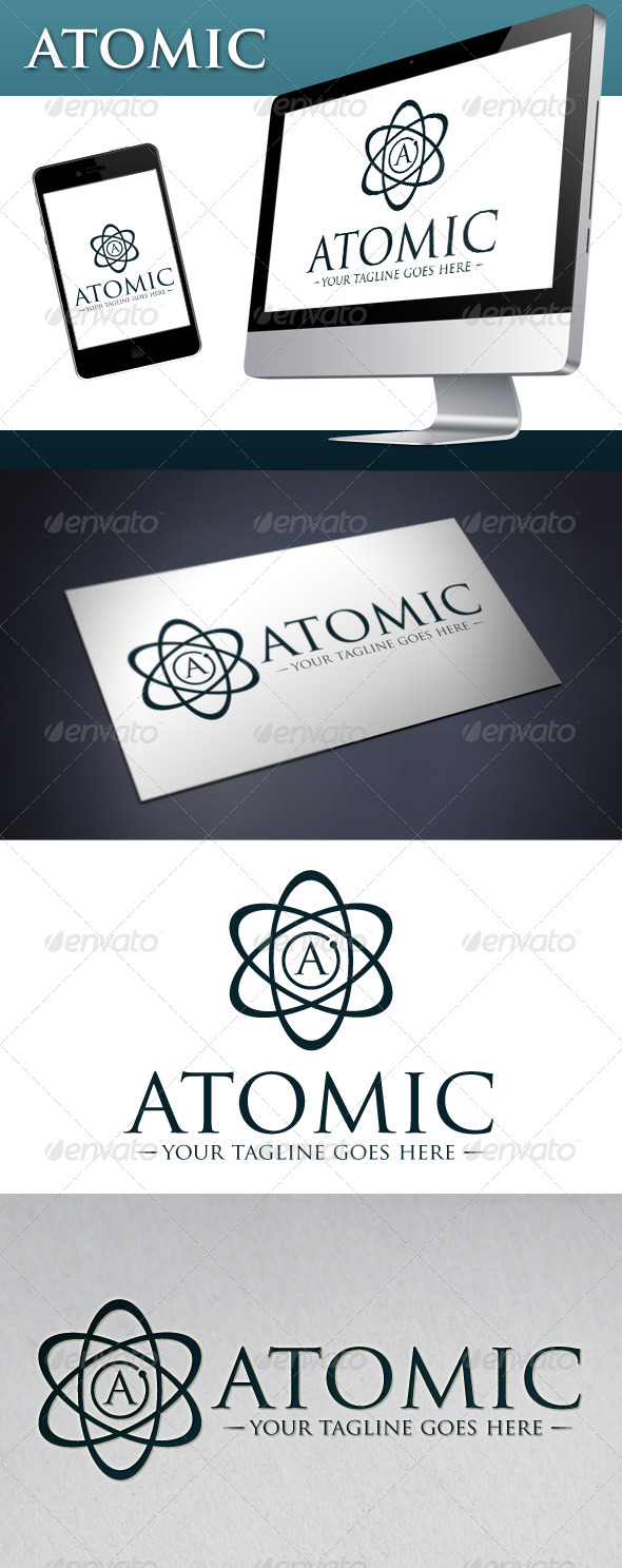 GraphicRiver Atomic Logo Template 3690776
