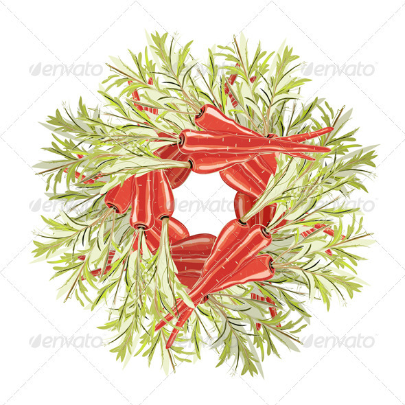 GraphicRiver Carrots Decorative Circle 3691041