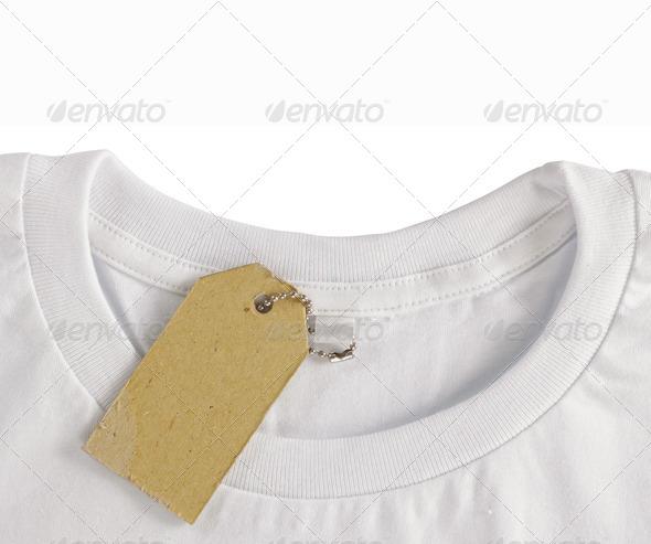 PhotoDune blank price tag hang over tshirt 3721130