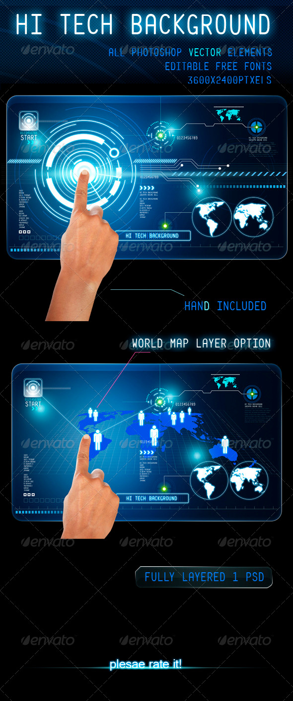 GraphicRiver Hi Tech Background 3691305