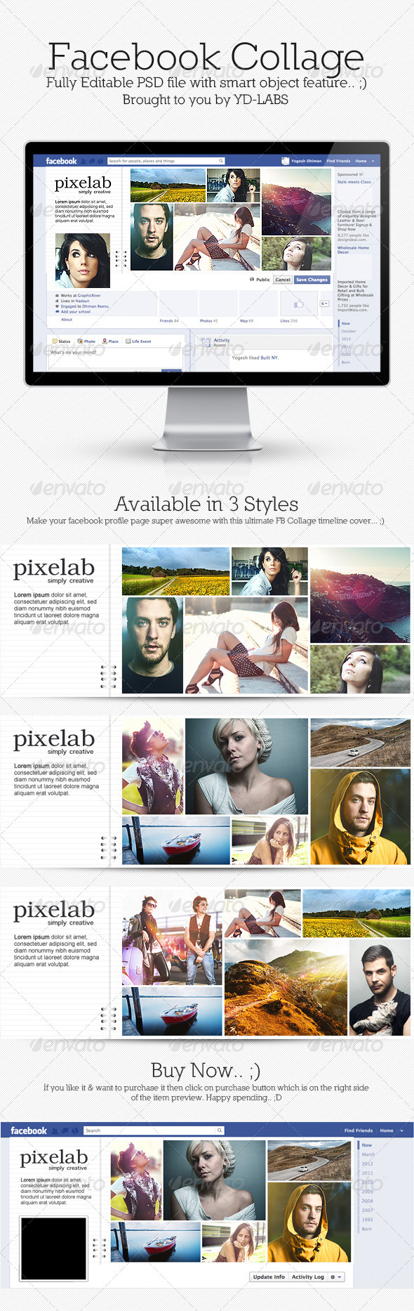 GraphicRiver FB Collage 3691404