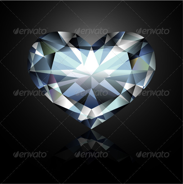 GraphicRiver Heart-Shaped Diamond 3691794