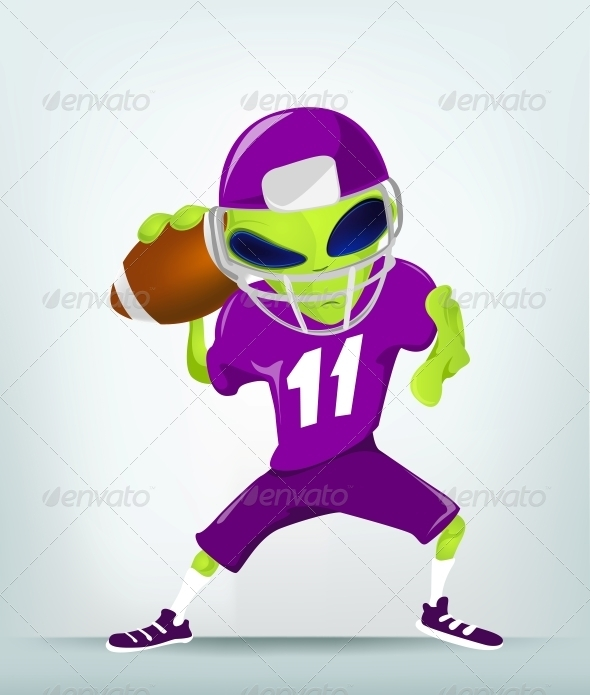 GraphicRiver Cartoon Character Alien Rugby 3691860