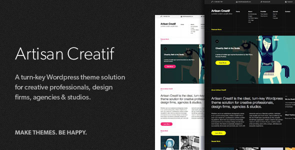 ThemeForest Artisan Creatif A WordPress Portfolio Theme 299934