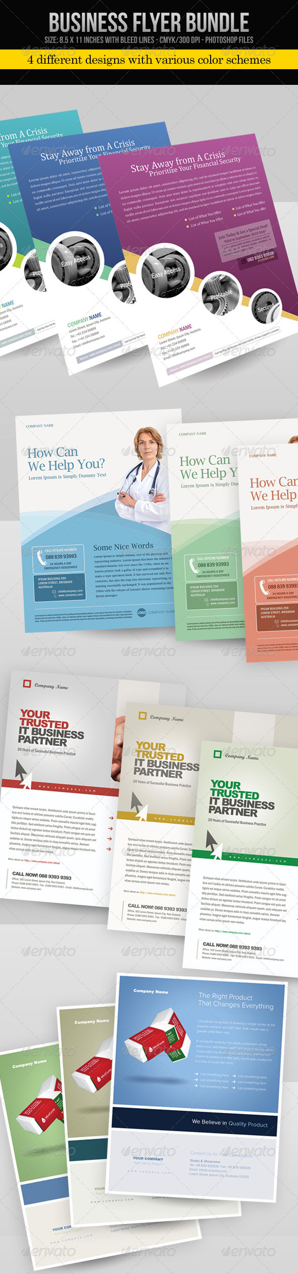 Business Flyer Bundle - Corporate Flyers