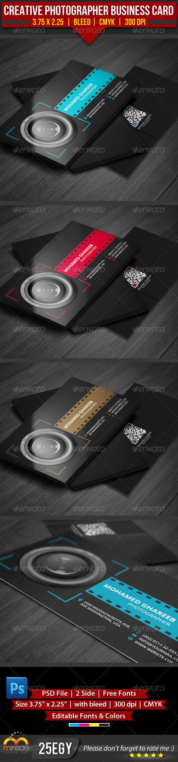 GraphicRiver Creative Photographer Business Card 3692859